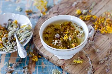 čaj|třezalka a brahmi|směs|